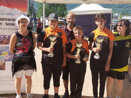 Equipe cadet finaliste triplette 2021