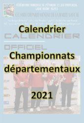 Couverture calendrier championnats