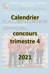 Couverture calendrier trim 4