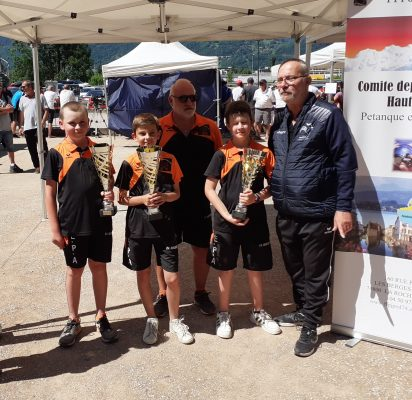 Equipe minime championne triplette 2021